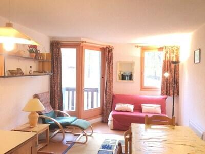 Location AU PIED DES PISTES Les Orres 1650 - Rés. Pic Vert - Appartement T2 6 Pers.